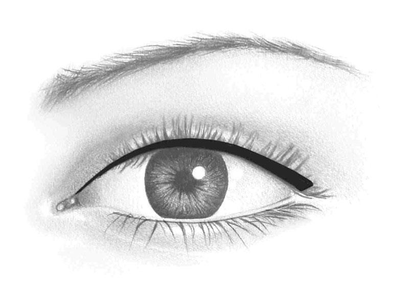 contour des yeux régulier