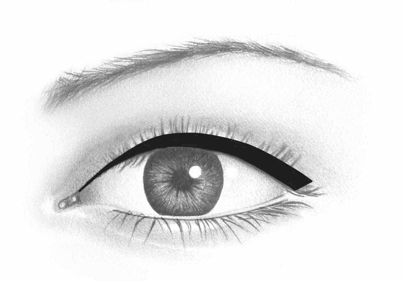 contour des yeux médium